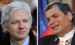 Julian Assange and Rafael Correa